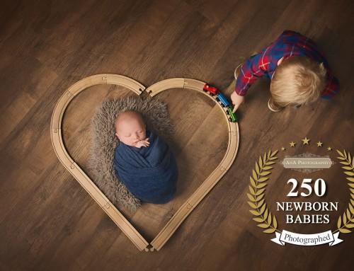 250 Newborn Babies at the Studio!